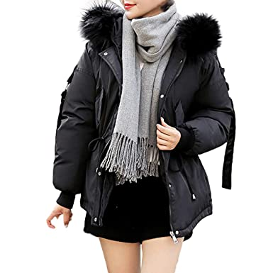 49bb63480db5 vermers Clearance Women Winter Warm Thick Outerwear Hooded Down ...