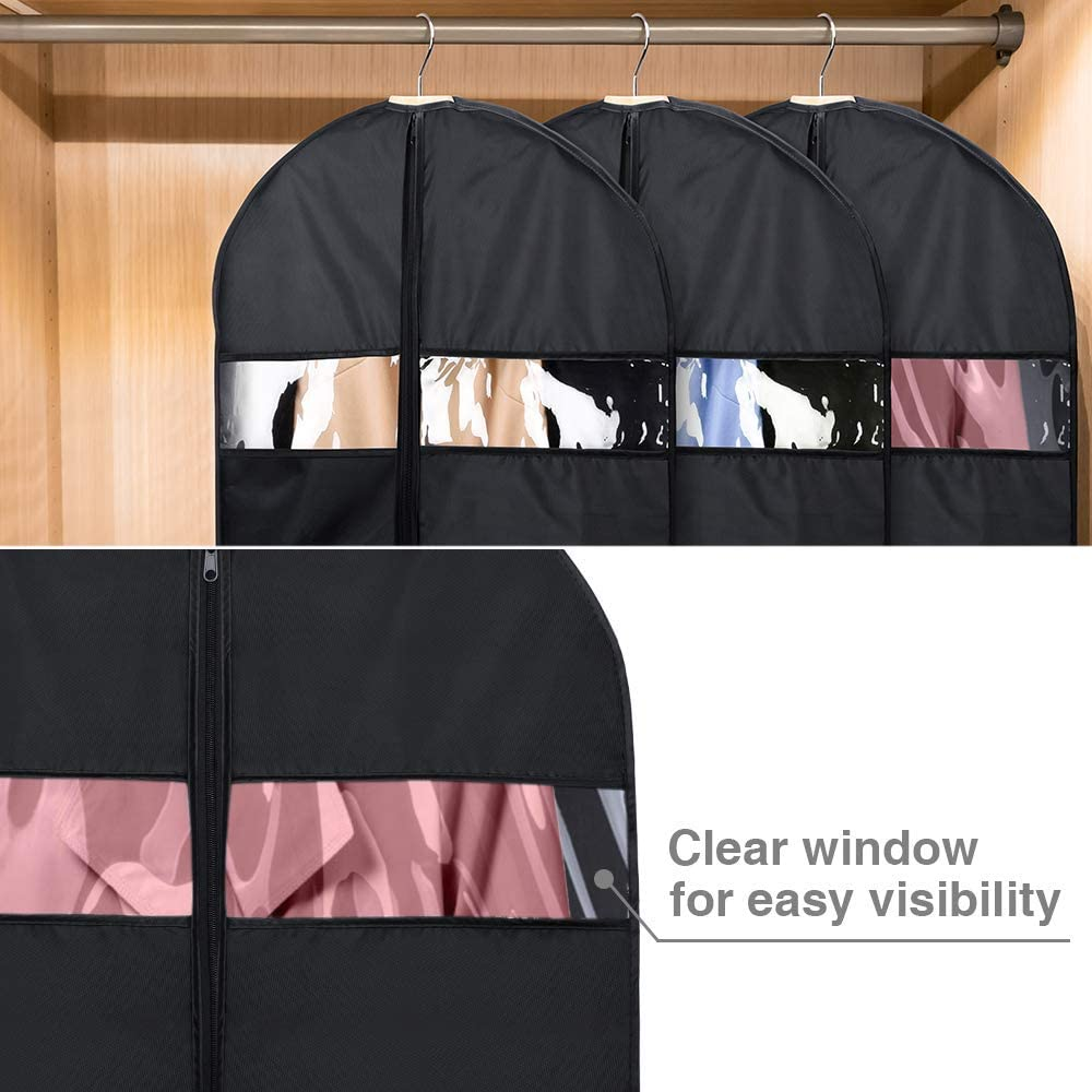 HOUSE DAY Garment Bags for Storage(5 Pack 60 inch) Garment Bags for Travel Lightweight Oxford Fabric Suit Bag for Storage and Travel,Closet,Washable Suit Cover for Dresses,Suits,Coats: Home & Kitchen
