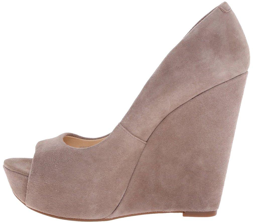 Calaier Mujer Calake Tacón Ancho 14CM Sintético Ponerse Zapatos de Tacón 36|Rosa