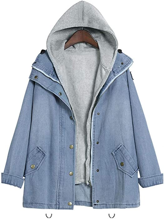 Hooded Drawstring Boyfriend Trends Jean Swish Pockets Two ...