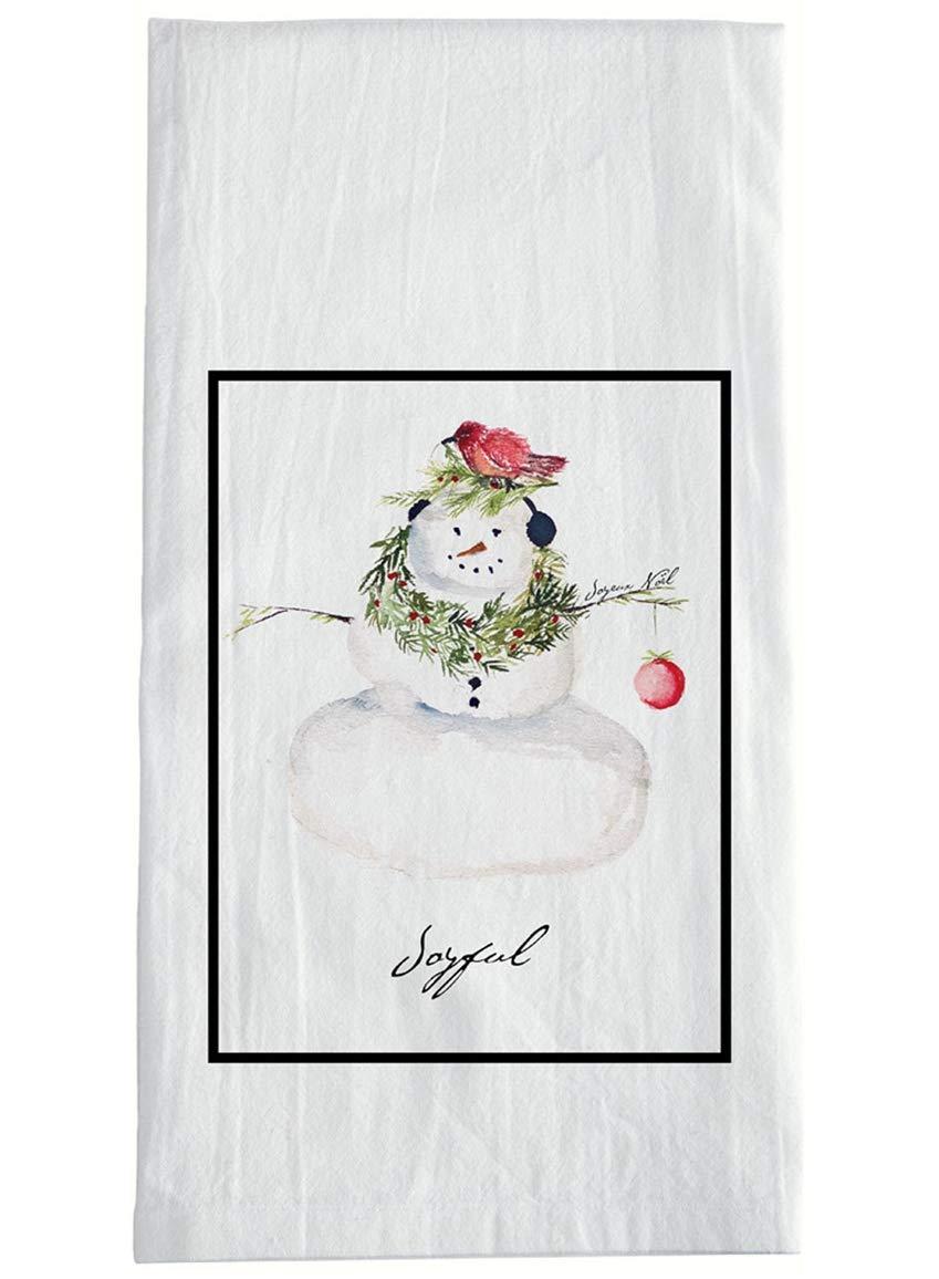 Cynthia Dunn Snowman Flour Sack Towel