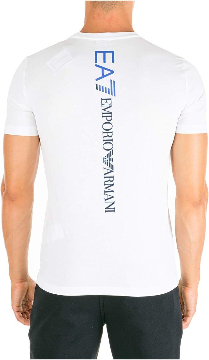 Emporio Armani EA7 Hombre Camiseta White S: Amazon.es: Ropa y ...