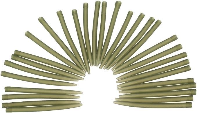 100 St/ück 38mm mit Angelhaken Karpfen Grobangelzubeh/ör Explopur Anti Tangle Rubber Sleeves