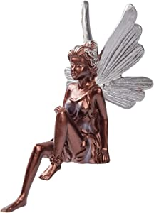 Sitting Fairy Statue for Garden, Fairy Statue for Gardens Decor, Sitting Fairy Statues Garden Ornament Resin Craft for Outdside Home Yard Decorations (Black)
