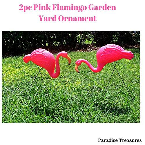 Paradise Treasures Bright Pink Flamingo Garden Yard with Stake Ornament - Wonderland In Flamingo Alice