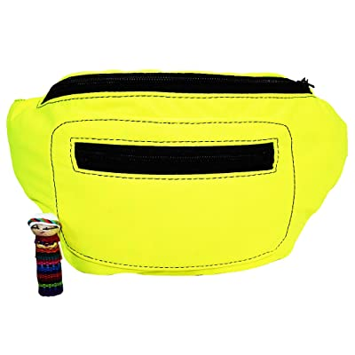 80's Funky Neon Party Fanny Pack w/ Hidden Pocket Handmade by Santa Playa