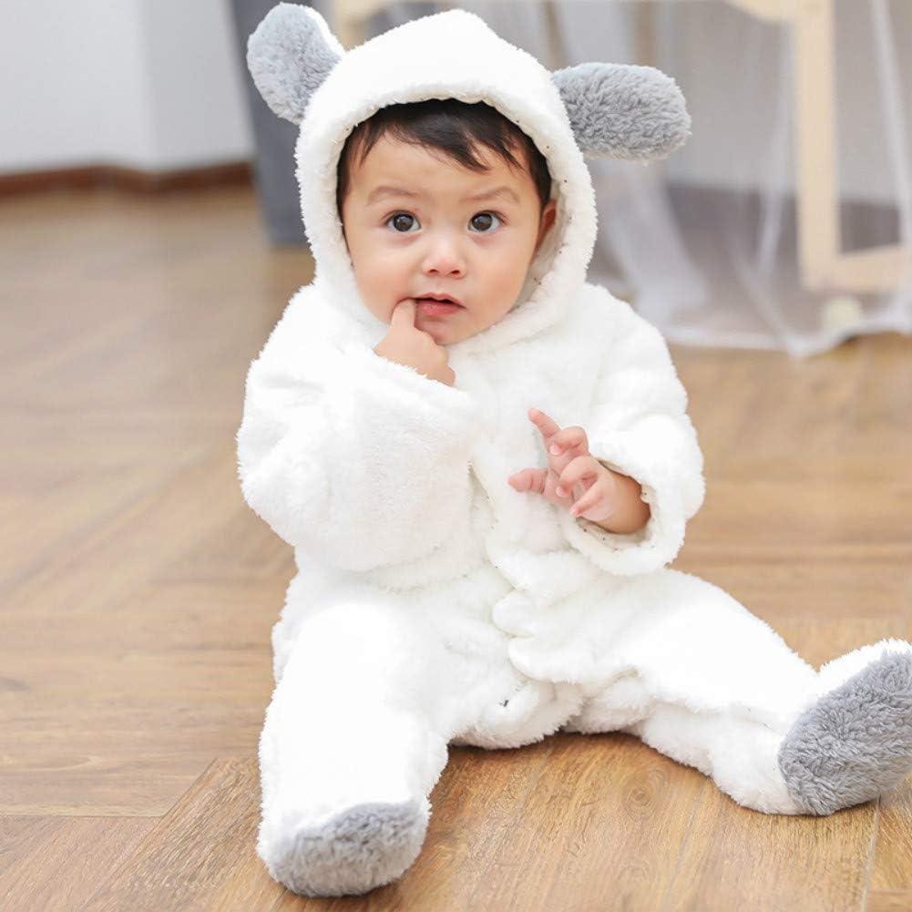 Aigoo 0-12Monate Baby Warm Strampler mit Kapuze Winter Overall Schneeanz/üge Footed Spielanzug Jumpsuit Outfits f/ür M/ädchen Jungen