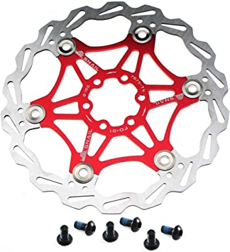 "1x SNAIL Brake Disc Floating Rotor 180mm 7/"" 6 Bolts Rotors MTB XC Road bike Red"