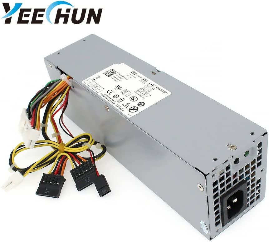 YEECHUN 240W New Power Supply for Dell OptiPlex 390 790 960 990 3010 7010 9010 Small Form Factor SFF H240ES-00 D240ES-00 AC240AS-00 AC240ES-00 DPS-240WB L240AS-00 H240AS-00 3WN11-180 Days Warranty!