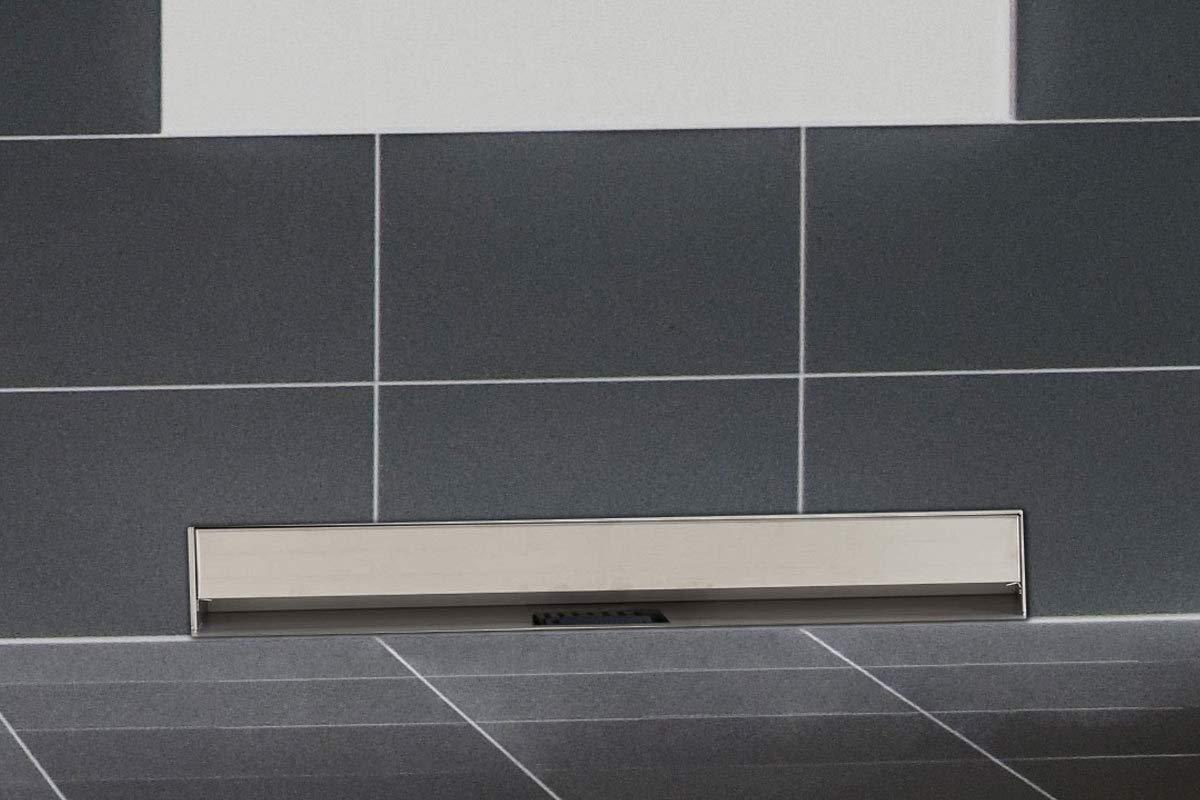 CLP Scarico per doccia da parete in acciaio inox ZITAHLI, montaggio a muro, canaletta di scarico con sifone, disponibile in diverse misure: 400-10000 mm 400 mm