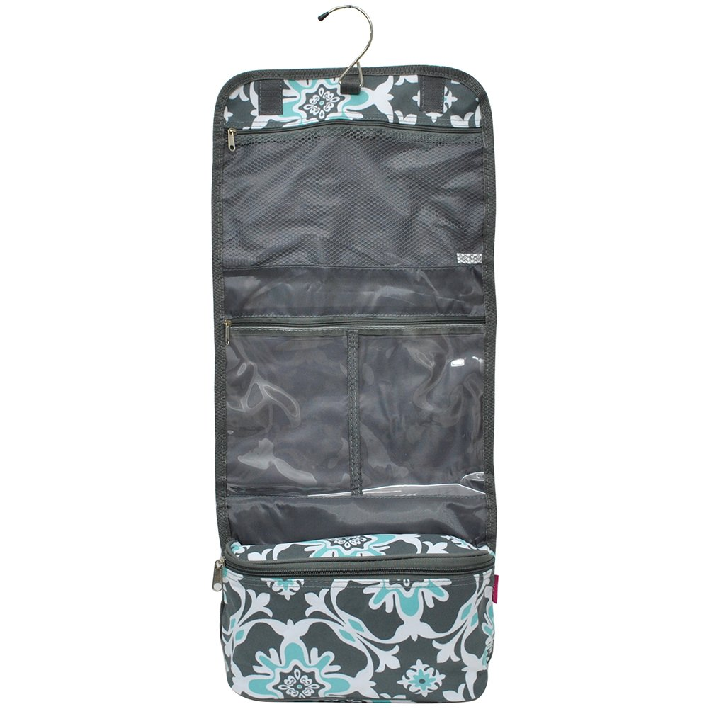 Quatre Vine Gray NGIL Toiletry Cosmetic /Jewelry Organizer Travel Pouch