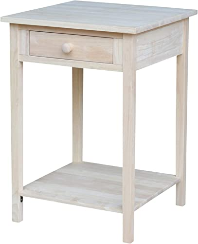 International Concepts Hampton Bedside Table Unfinished