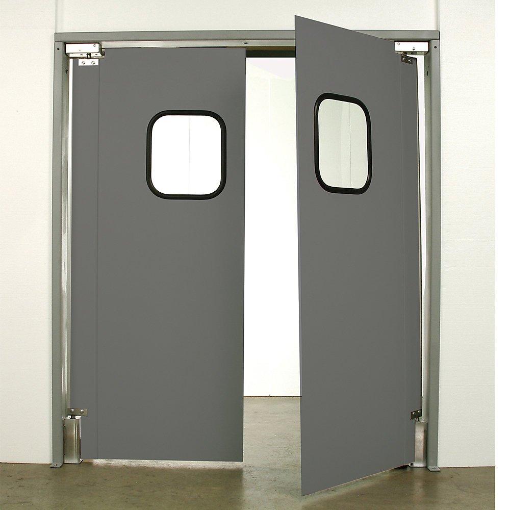 Aleco Impacdor Light-Duty Traffic Doors - 8'0''Wx8'0''H - Double Door - Gray - Gray