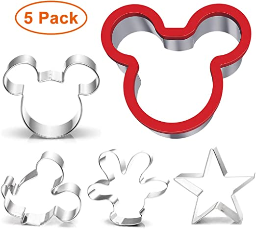 Mickey Mouse main Cookie Cutter Set de 2 Fondant Cutter Biscuit Pâtisserie