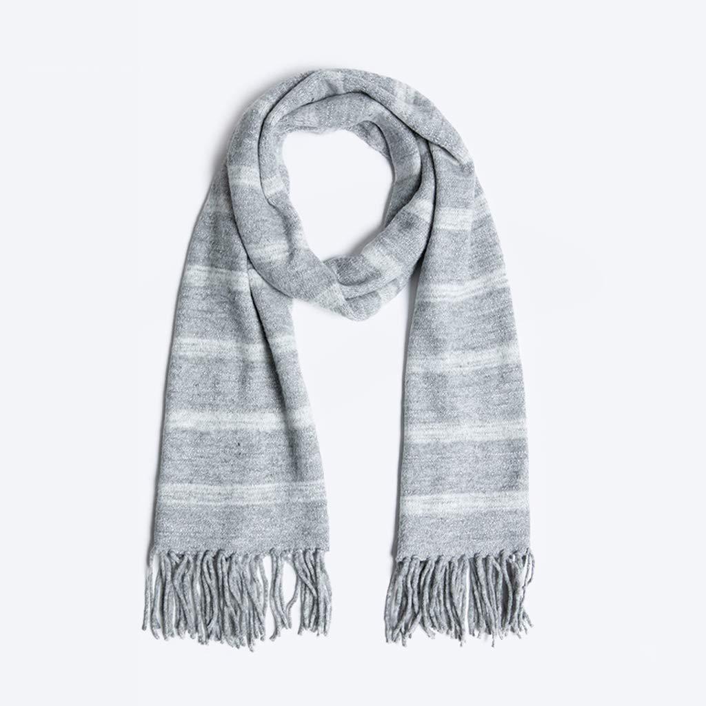 Fashion Warm Scarf Bright Silk Striped Scarf Female Autumn and Winter Thick Shawl