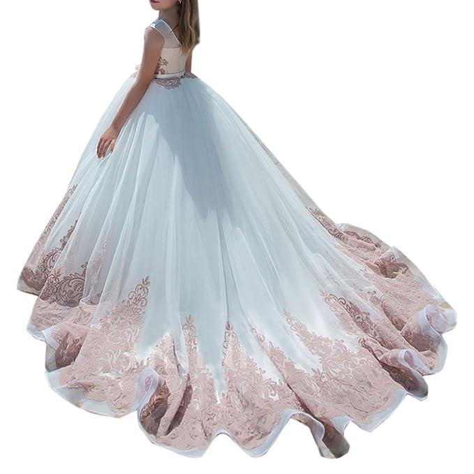 Amazon.com: shenlinqij niña vestidos de concurso para ...