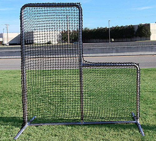7' x 7' L-Screen X-Heavy Duty Commercial Baseball Safety FRAME with NET #84 HDPE by Jones Sports
