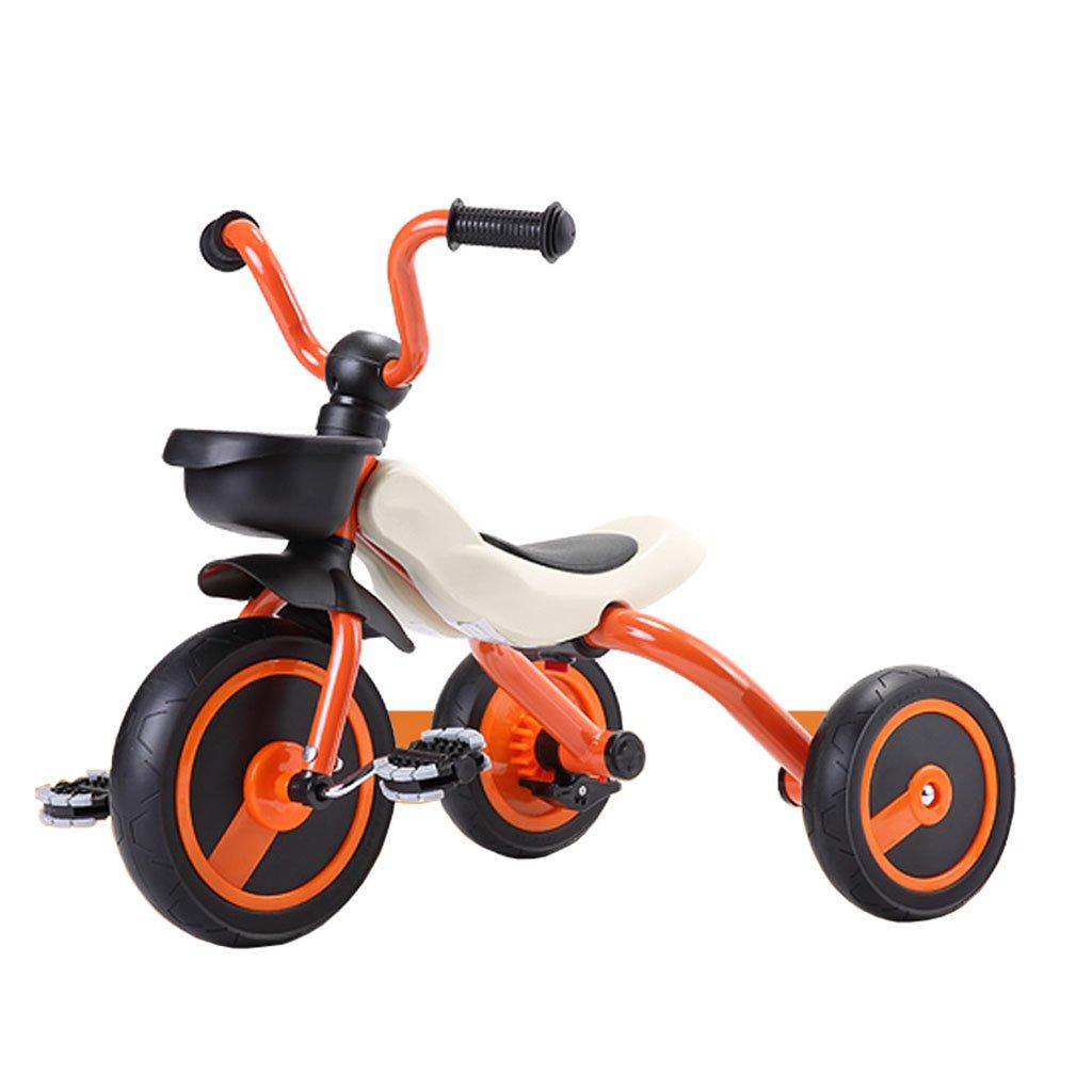 CGN子供の自転車、子供の学生の赤ちゃん折りたたみ式の赤ちゃんキャリッジライト自転車三輪車 soft B07CMYFKFT オレンジ オレンジ