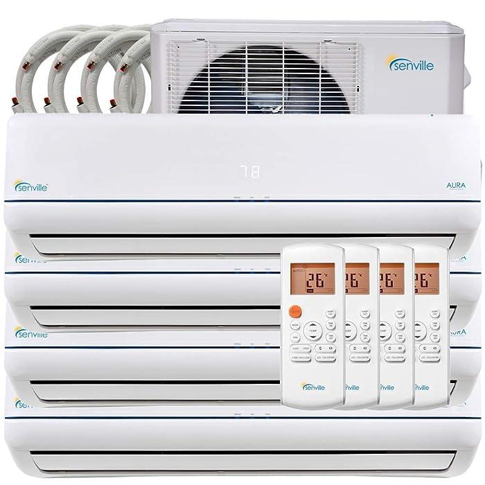 Senville 36000 BTU Quad Zone Mini Split Air Conditioner Heat Pump SENA-36HF/Q