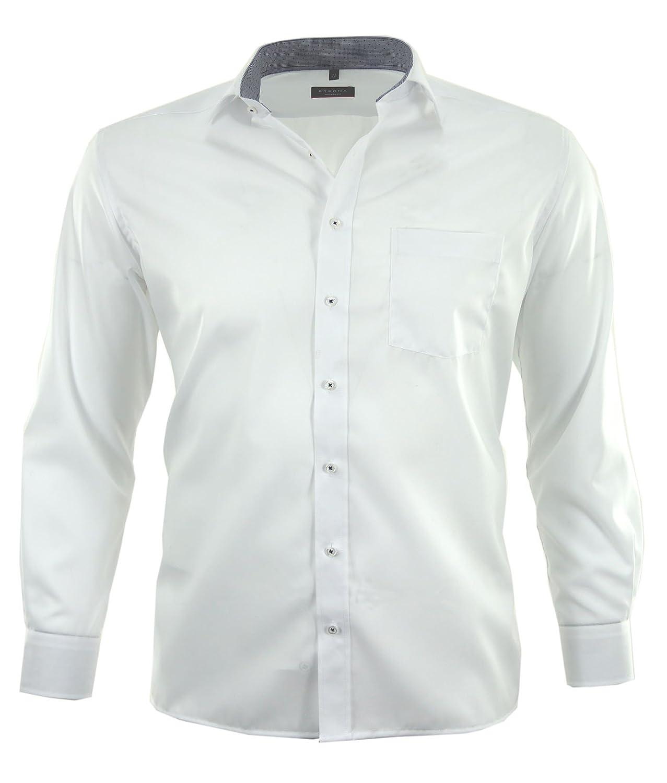 eterna Men's Plain Classic Formal Shirt white Wei?