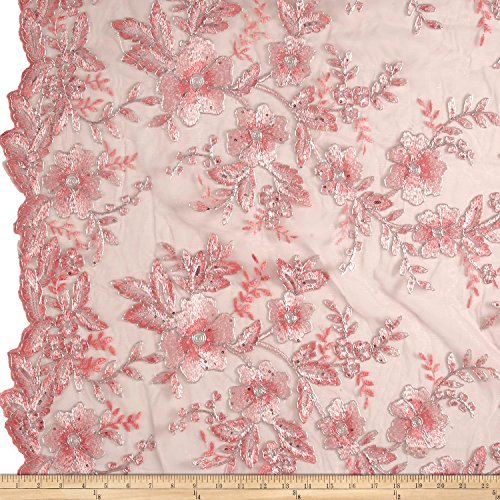 embroidered stretch fabric