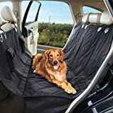 """Dog Seat Cover for Cars,5ivepets Waterproof & Non-Slip Dog Hammock for All Cars and SUV,58""""X54''inch Pet Car Seat Cover"""