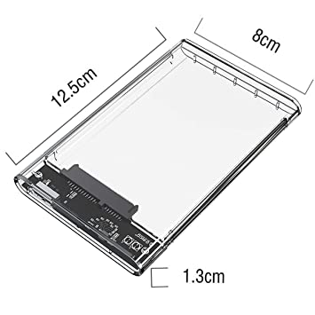 BLESYS 2.5 Caja para Disco Duro Externo/Carcasa USB 3.0 External Hard Drive Case 2 5 SATA HDD and SSD, Tool-Free (Claro/Clear): Amazon.es: Electrónica