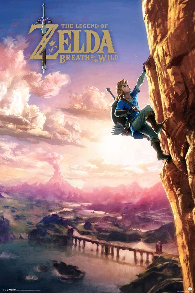 Pyramid America The Legend of Zelda Breath of The Wild Video Game Gaming Cool Wall Decor Art Print Poster 24x36