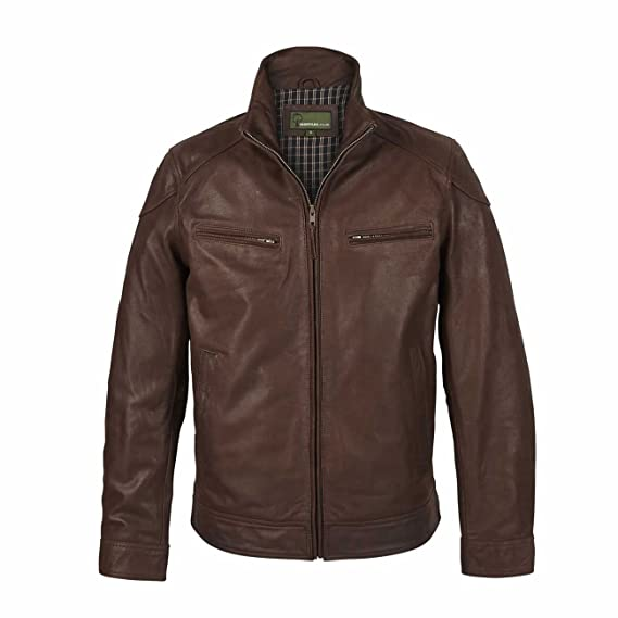 5a0f69160 Men's light brown leather jacket genuine cowhide bomber jacket style Manx