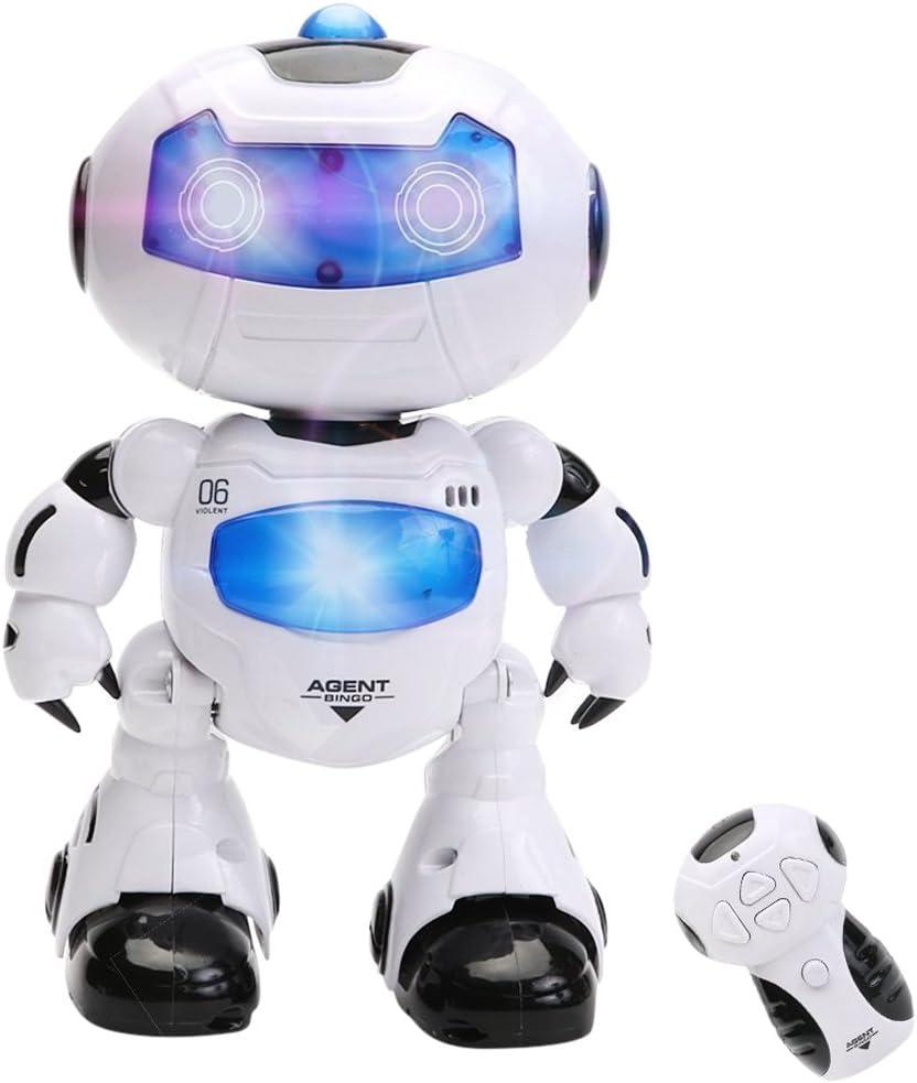 RC Robot Télécommande Robot Intelligent Marche RC Robot spatial Musique Lumière