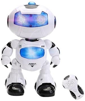 Wishtime Robot jouet avec télécommande Robot spatial intelligent RC avec  musique et lumière pour enfants - Version Anglaise
