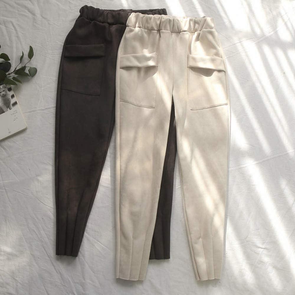 Love My Fashions/® Nuevas Mujeres Lisas Alibaba Harem Tobillo Pu/ños Pantalones de Mujer de Longitud Completa Pantalones Deportivos de Yoga Pilates Tallas Grandes