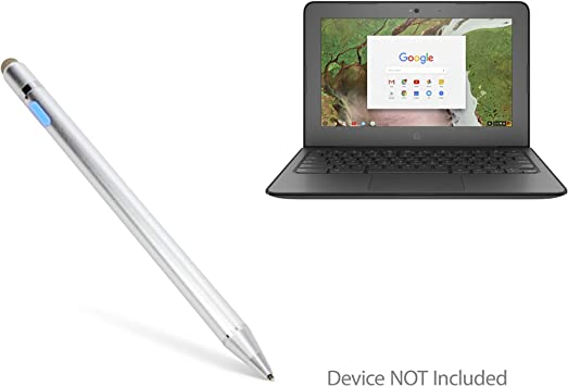 Broonel Grey Rechargeable Fine Point Digital Stylus Compatible with The HP Chromebook 11-v001na 11.6 Inch