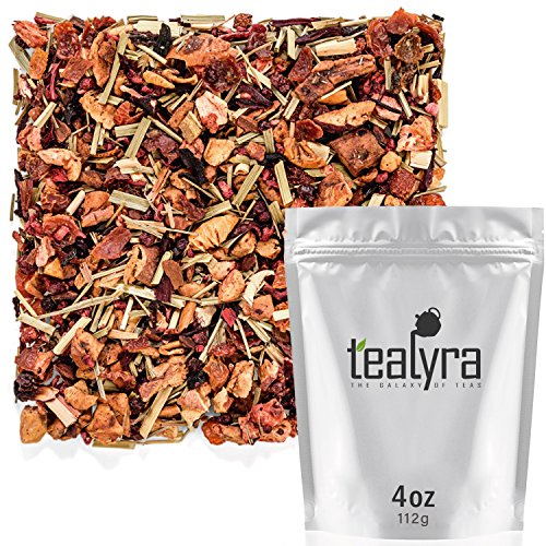 Tealyra - Wildberry Lemonade - Strawberry - Lemongrass - Hibiscus - Fruity Herbal Loose Leaf Tea - Hot or Iced - Vitamin and Antioxidants Rich - Caffeine Free - All Natural - 112g (4-ounce)