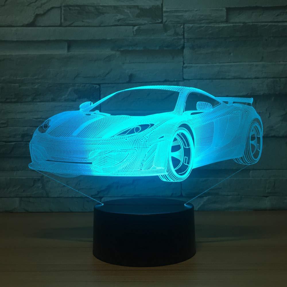 Acryl 3D Nachtlicht LED Lampe Rennwagen Form Luminaria Lampe USB Tisch Schreibtisch 3d Lampe Licht Für Kinder Urlaub Geschenke