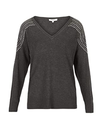 on wholesale classic on feet at Morgan De Toi Pull Femme Pullover 182-mshang XS Gris: Amazon ...