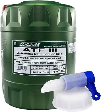 Getriebeöl Fanfaro Atf Iii Automatik 20 Liter Inkl Auslasshahn Auto