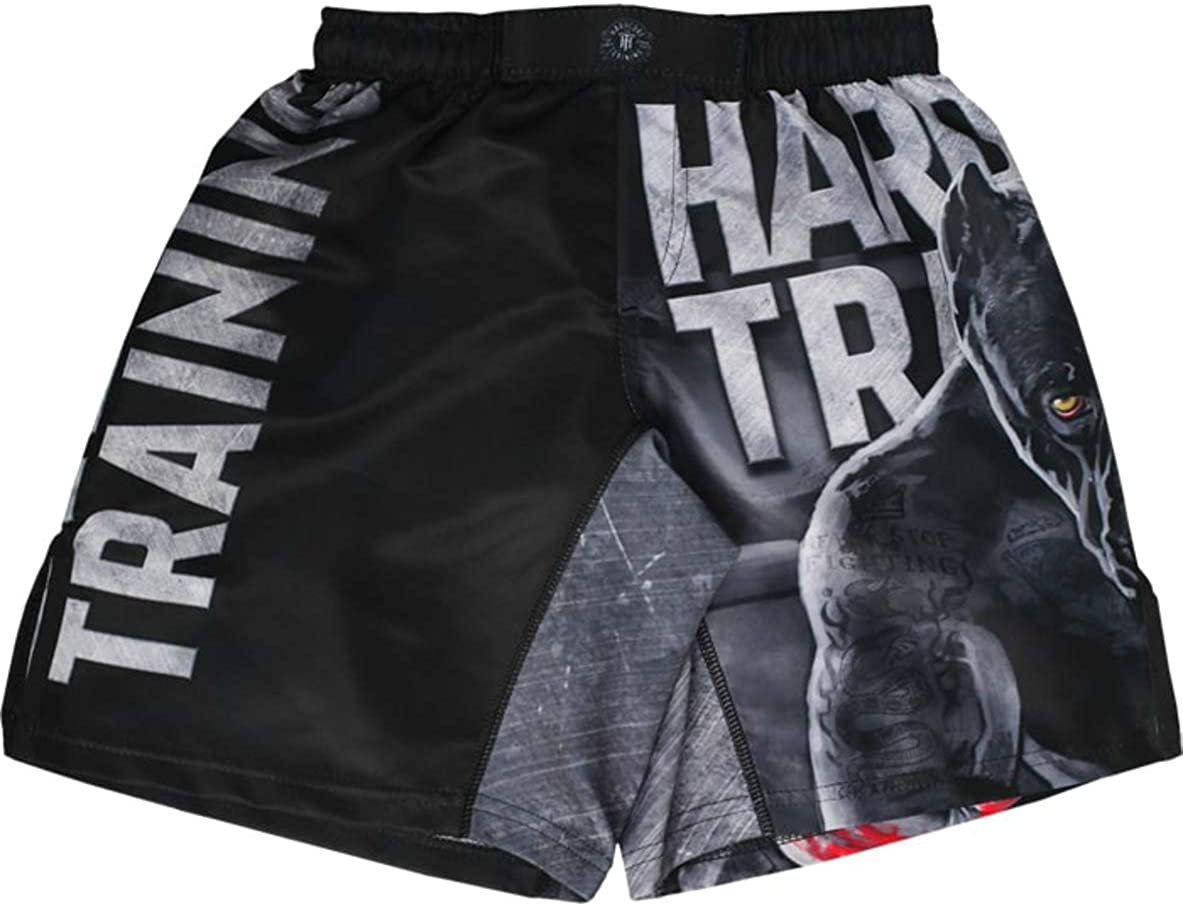 Hardcore Training The Moment of Truth Kids Boxing Shorts MMA BJJ Fitness Running Workout Exercise Sport Clothing