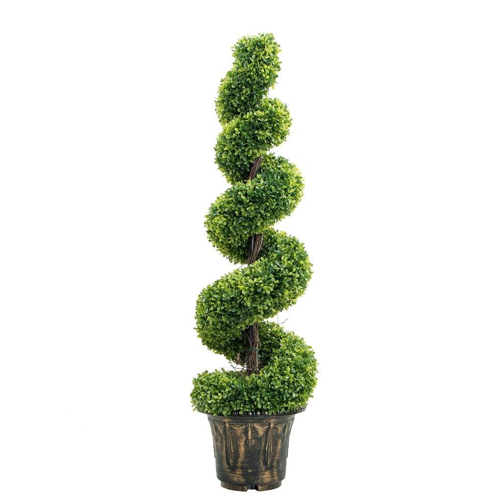 シミュレーション植物床盆栽人工植物スパイラルグリーン植物鉢植えリビングルーム装飾偽植物プラスチック (サイズ : 123cm) B07QNKG34H  123cm