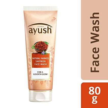 Ayush Natural Fairness Saffron Face Wash, 80g