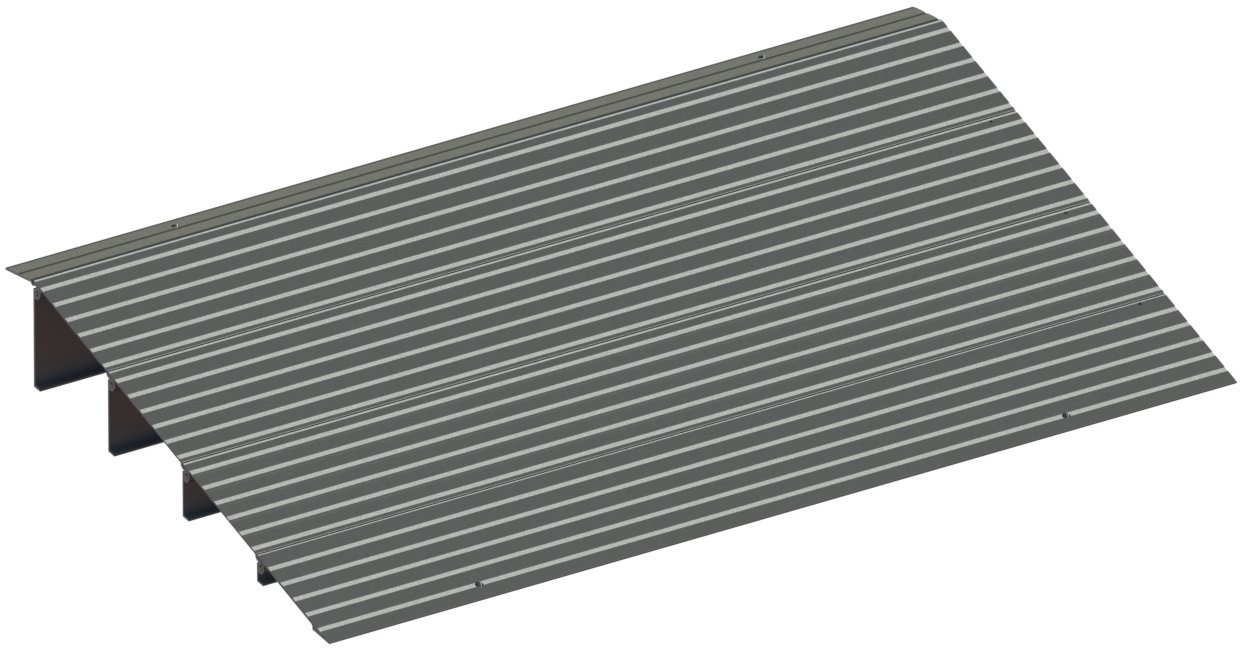 EZ-ACCESS, Threshold Ramp, 4 Inches (11 Pounds), Indoor and Outdoor Use, Transfer Between Levels and Surfaces with More Security and Safety, Great for Wheelchairs, Walkers, Scooters by EZ-Access
