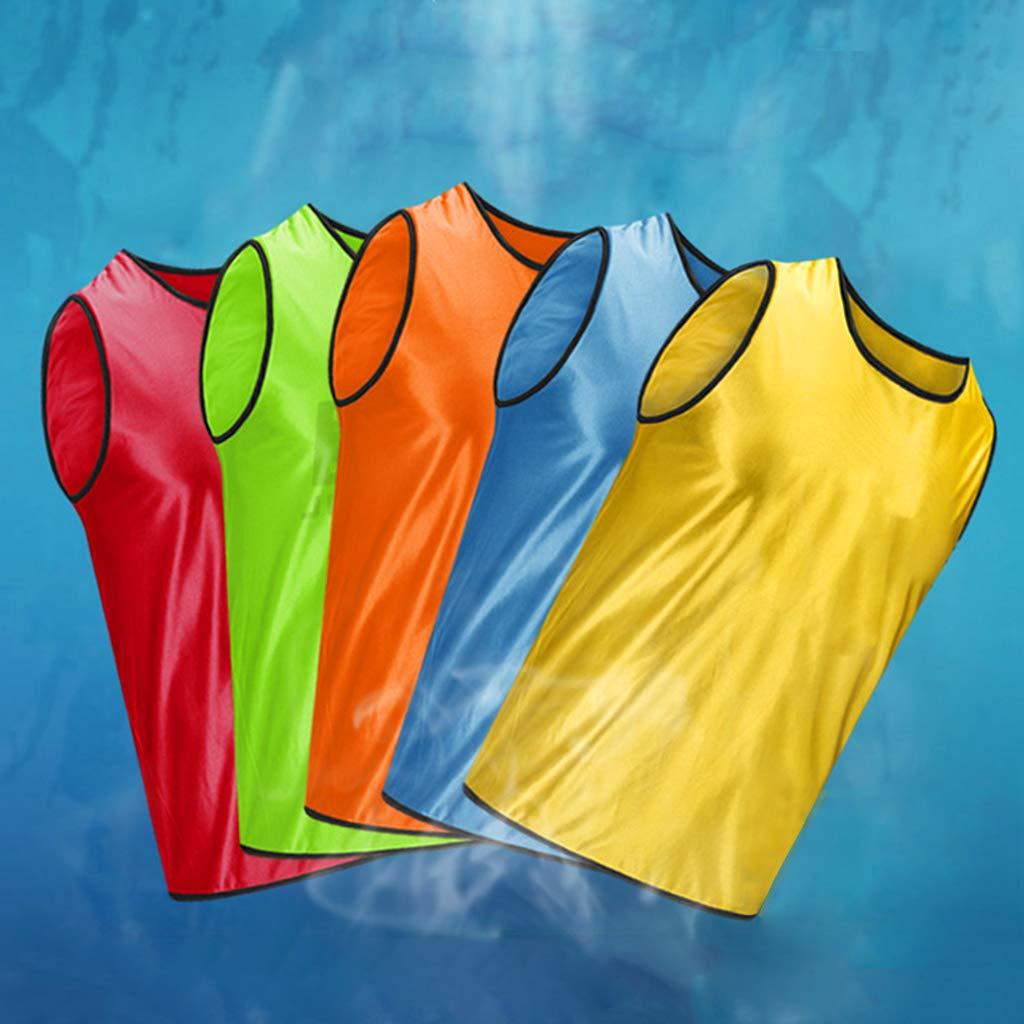 LIskybird Sleeveless Soccer Training Team Vest Football Jerseys Sports Shirts Adults Breathable for Men Women Basketball Grouping