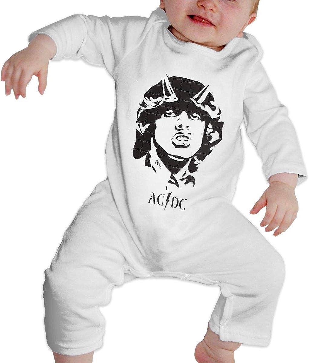 Qq1-asd-store ACDC Boys//Girls Baby Cotton Long Sleeve Romper Warm Bodysuit