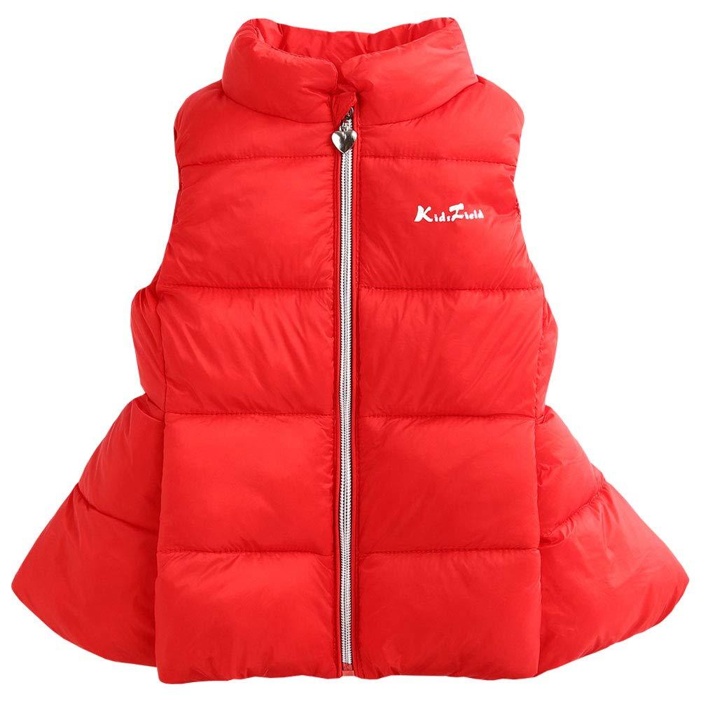 LSERVER Kids Bodywarm Down Gilet Dress Girl Puffer Down Vest Toddler Lightweight Waistcoat Autumn Winter Jacket