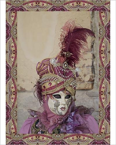 [Photographic Print of Elaborate costume for Carnival Venice Italy] (Venice Carnival Costumes Patterns)