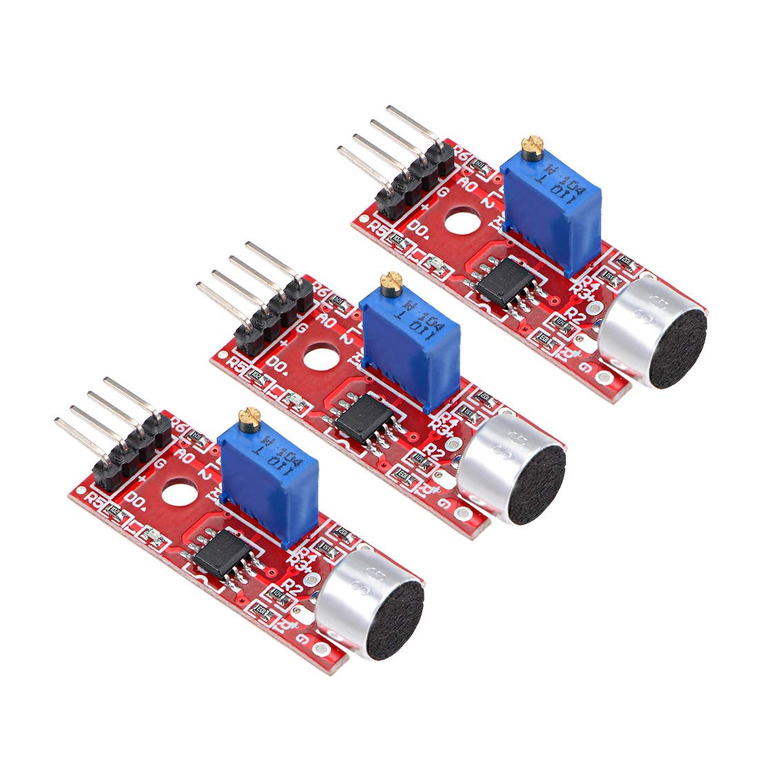 uxcell Microphone Sound Sensor Voice Detection Module with Do Ao Output for Arduino DIY Projects 5pcs