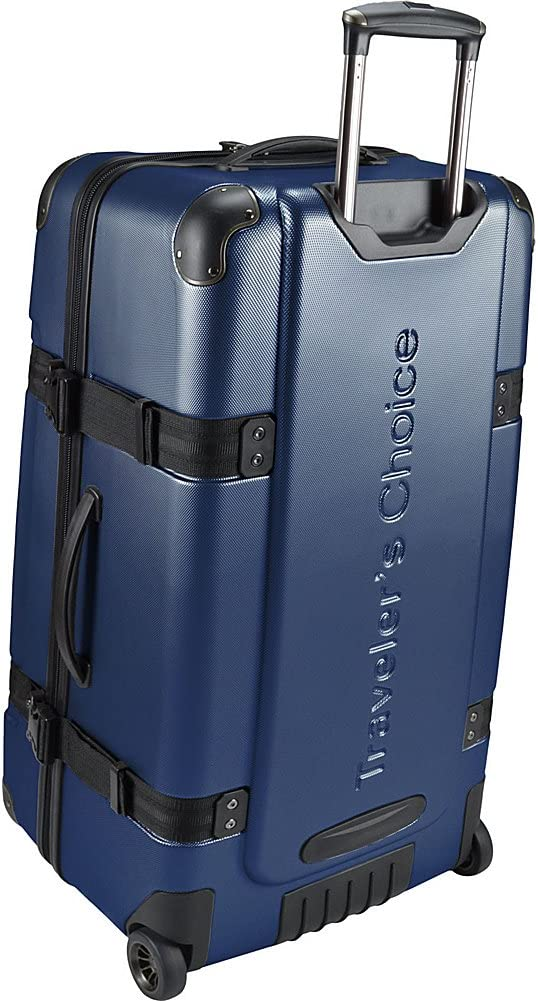 Travelers Choice Maxporter 28 Rolling Trunk Luggage Silver