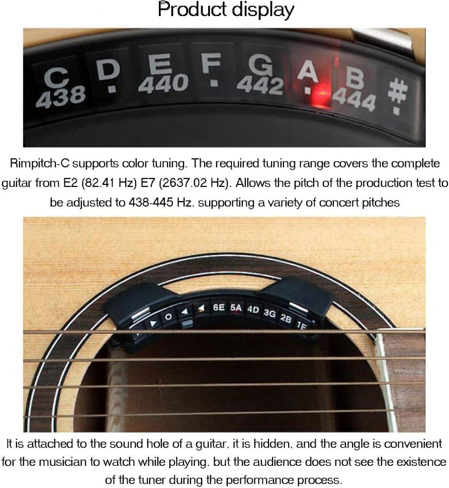 JZWX Folk Sound Hole Tuner Invisible Guitarra acústica Tuner Bass ...