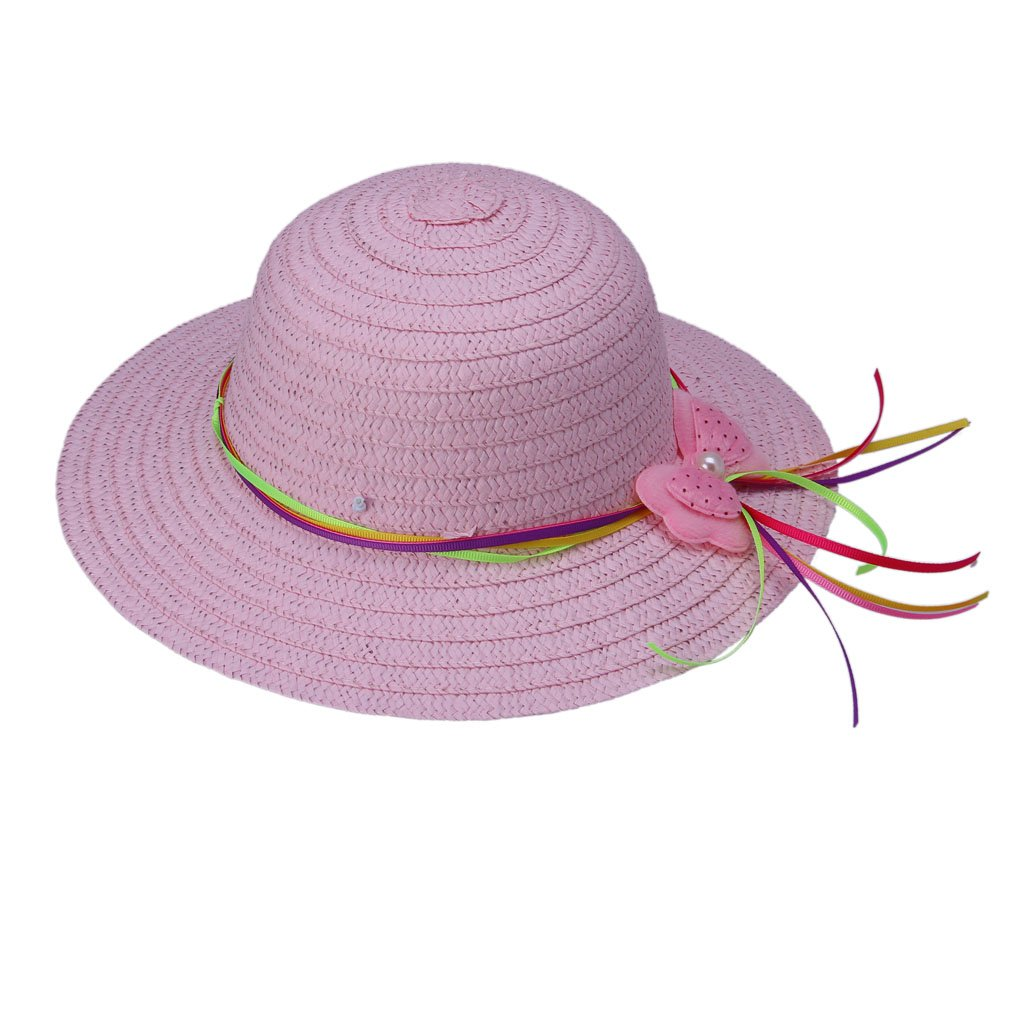 JTC Kids Straw Sun Hat Child Beach Cap with Strap Visor Prop Outfit 1-5years old 7Design