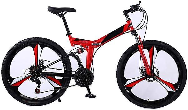 LPWCA Bicicleta De Montaña Plegable,Bicicleta para Adultos ...